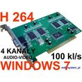 Karta DVR 4 kanały AUDIO-VIDEO 100 kl/s, WINDOWS XP / WINDOWS 7, ETHER 9404A ( AJ204A )