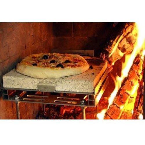 PIZZA CASA - kamień z adapterem do pieczenia pizzy, chleba i grillowania w kominku