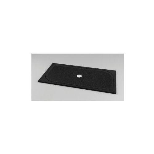 Brodzik prostokątny 70x90 konglomeratowy SanSwiss Marblemate, czarny granit WMA7090XX
