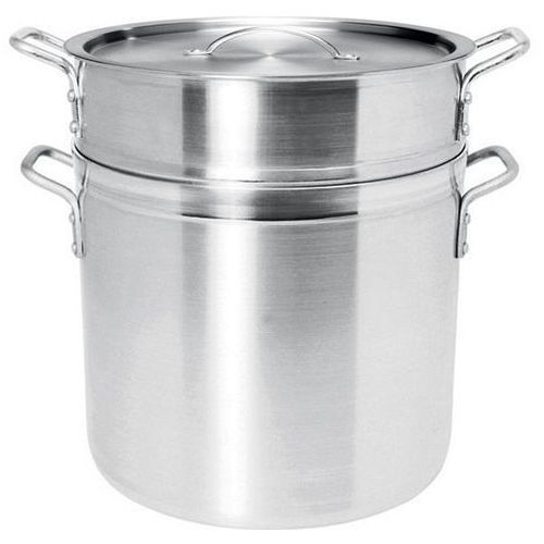 Garnek aluminiowy PROFI LINE do pierogów, ryżu, makaronu zperforowanym wkładem ipokrywką, poj. 13 l