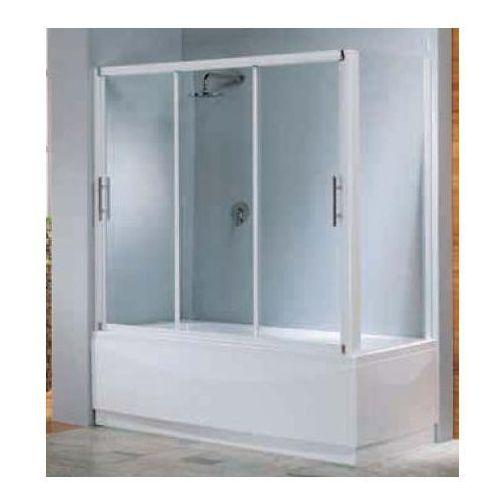 Novellini Ścianka nawannowa 30/40x150cm profil biały szkło gotyk LUNESVFSP-2D