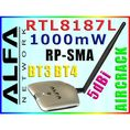 POWER ALFA AWUS036H 1000mW RTL8187L WARDRIVING BT3