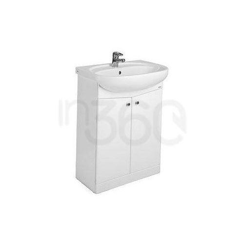 Koło nova Zestaw łazienkowy składający się z umywalki meblowej 55 cm i szafki stojącej podumywalkowej w kolorze białym 29210000