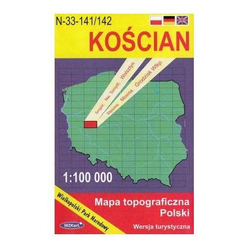 Kościan Wielkopolski Park Narodowy mapa 1:100 000 WZKart [opr. miękka]